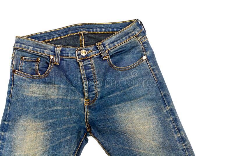 Blauer Baumwollstoff lokalisiert lizenzfreie stockfotos