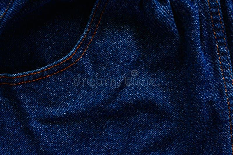 Blauer Baumwollstoff und Denim gemasert, ein starkes Baumwolltwillgewebe stockfotografie