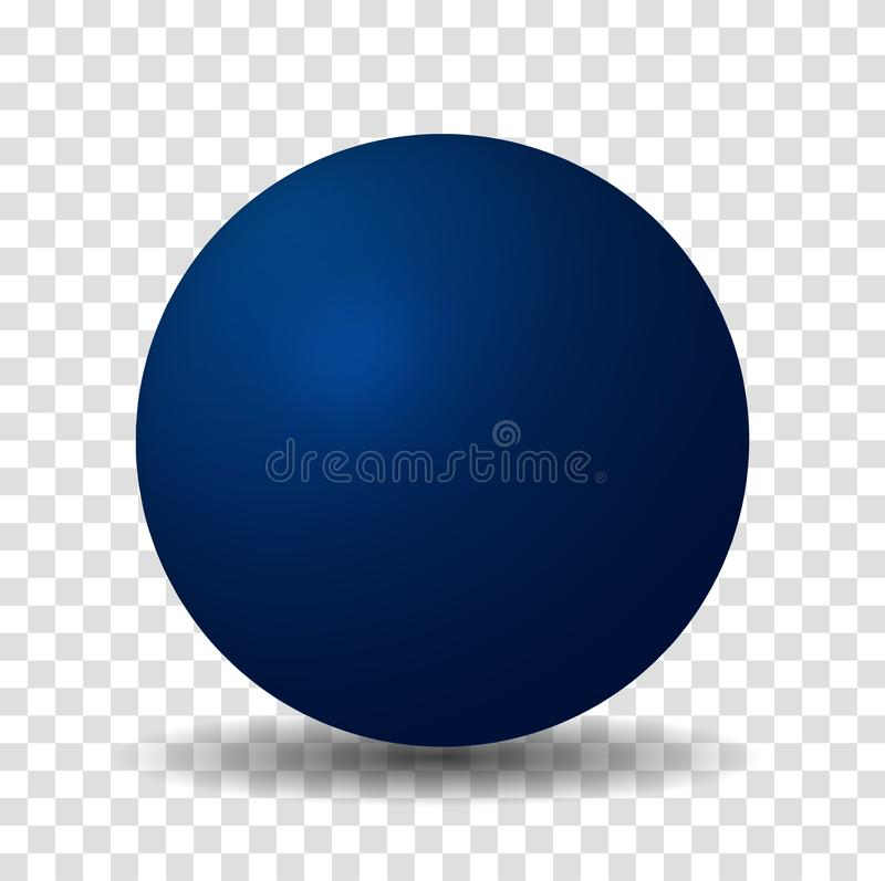Blauer Bereich-Ball lizenzfreie abbildung