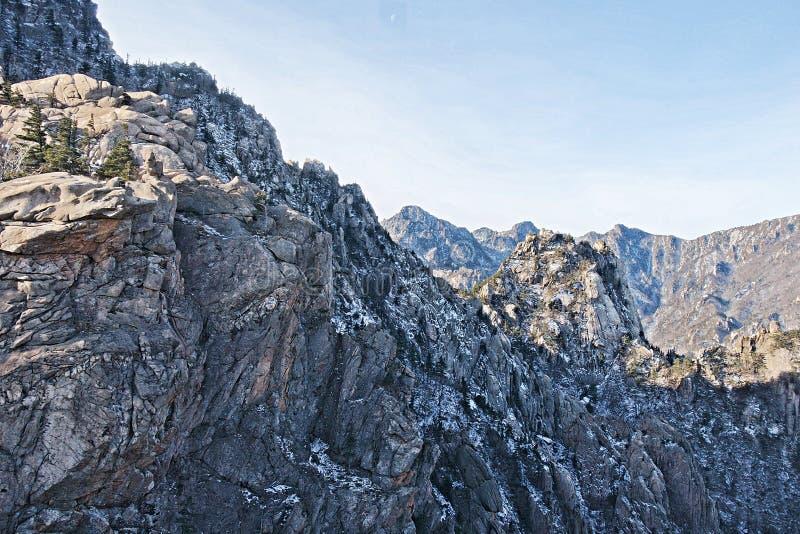 Blauer Berg stockfoto
