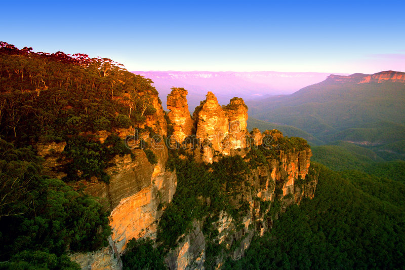 Blauer Berg, NSW, Australien stockbild