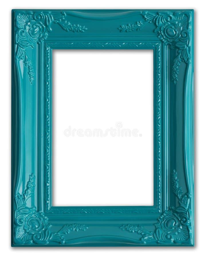 Blauer Bilderrahmen stockfoto