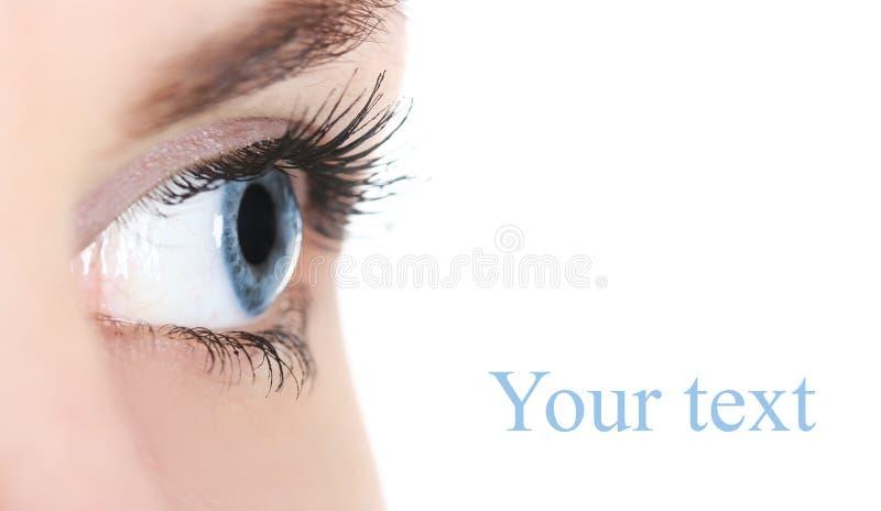 Blauer Blick stockfoto