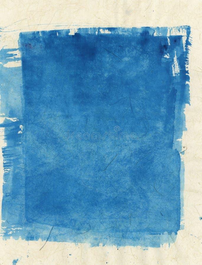 Blauer Block masert abstrakte Malerei lizenzfreie abbildung
