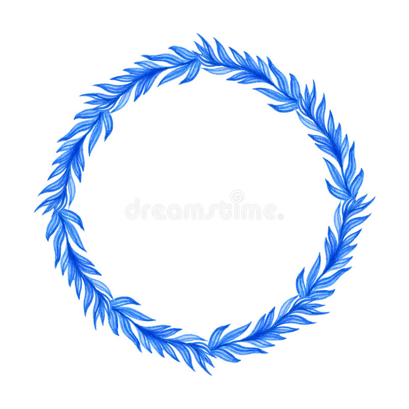 Blauer Blumenaquarellrahmen vektor abbildung