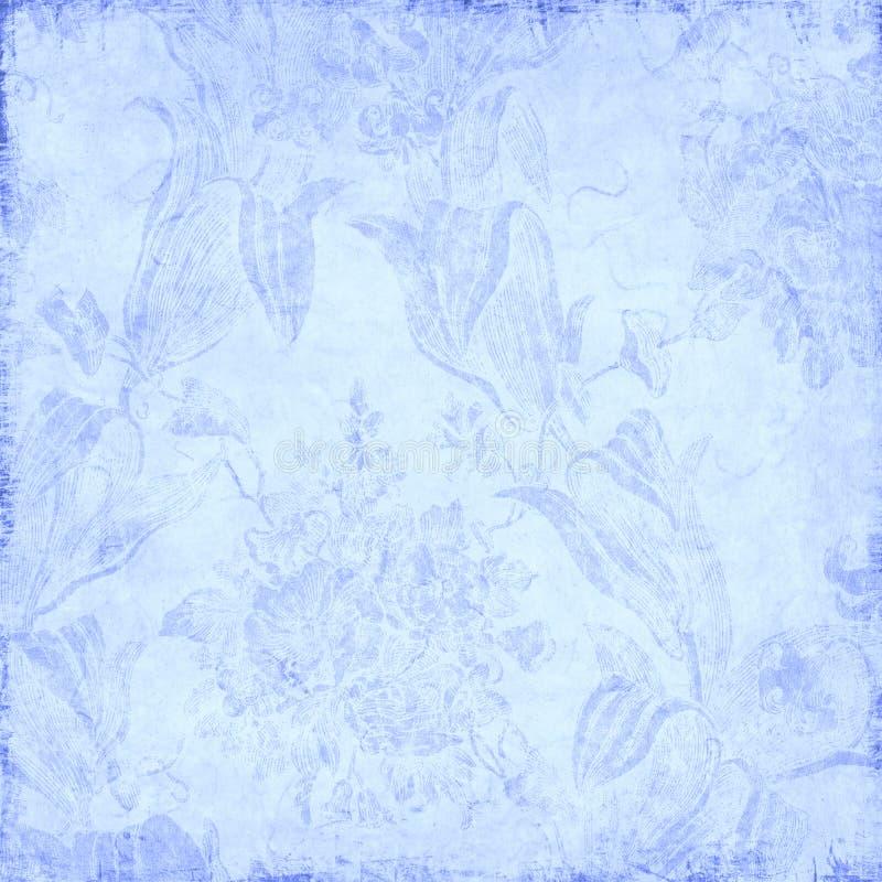 Blauer Blumenhintergrund vektor abbildung