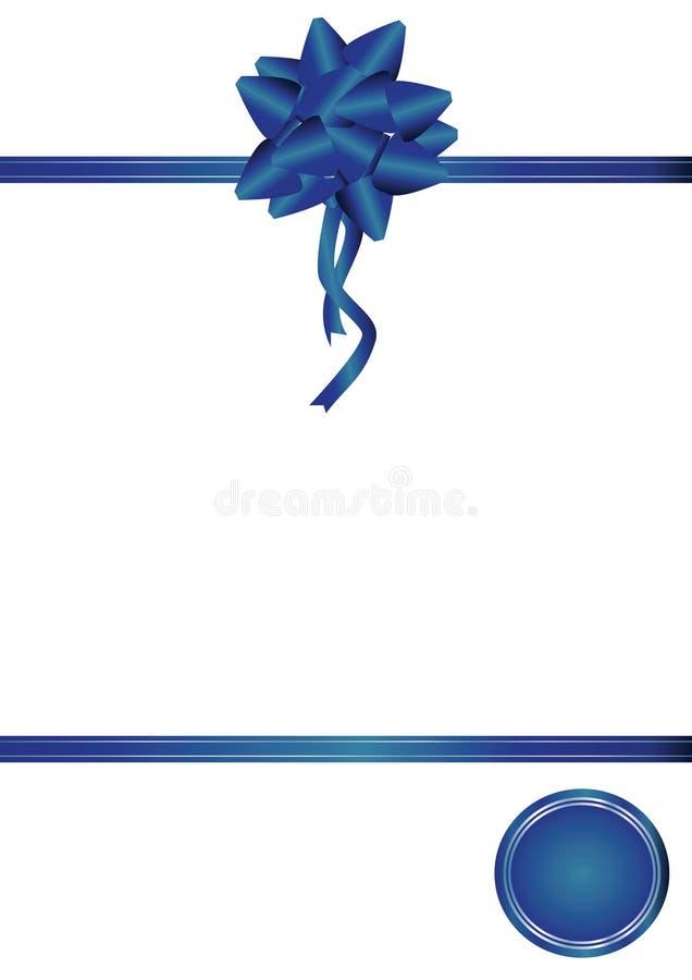 Blauer Bogen und Farbband lizenzfreie abbildung