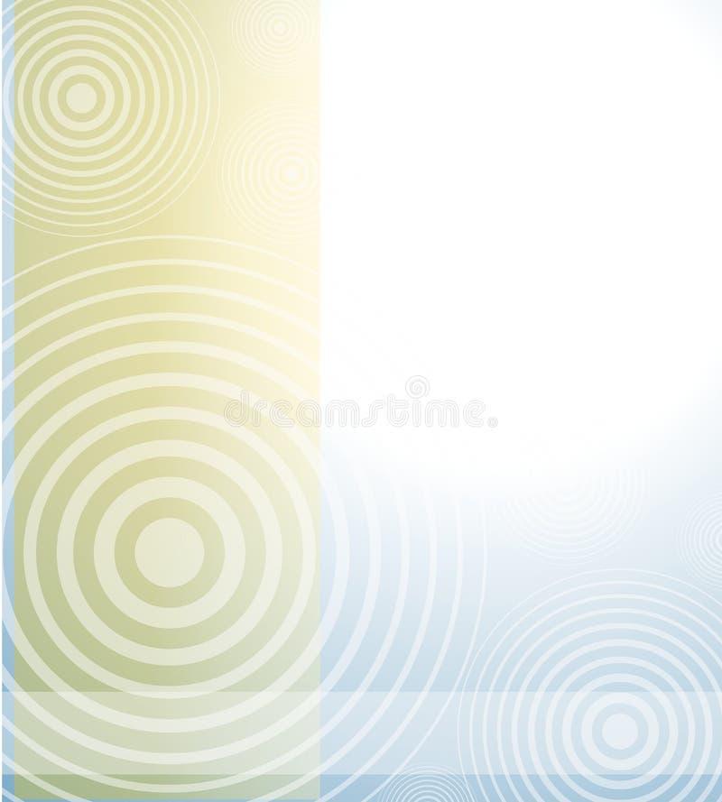 Blauer Brown-undurchlässiger radialhintergrund lizenzfreie abbildung