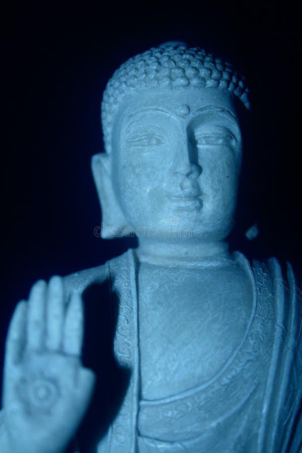 Blauer Buddha lizenzfreie stockbilder