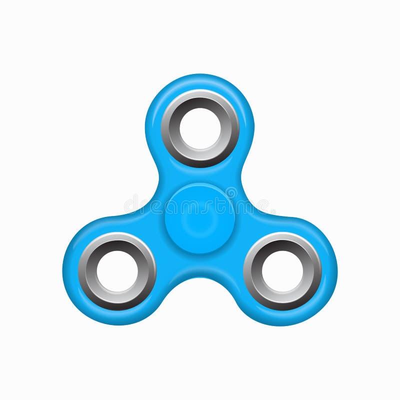 Blauer bunter Spinner auf einem weißen Hintergrund vektor abbildung