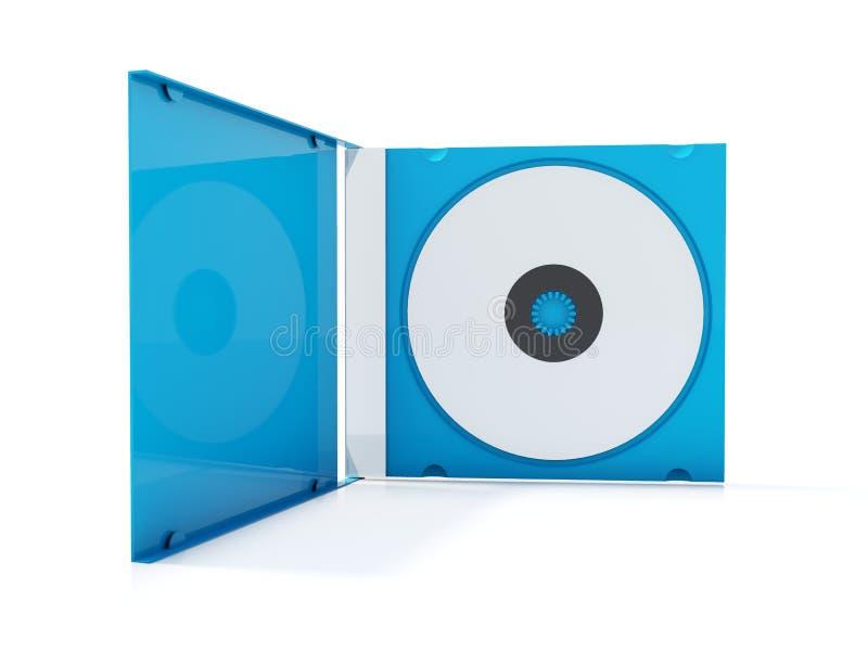 Blauer cd Kasten lizenzfreie abbildung