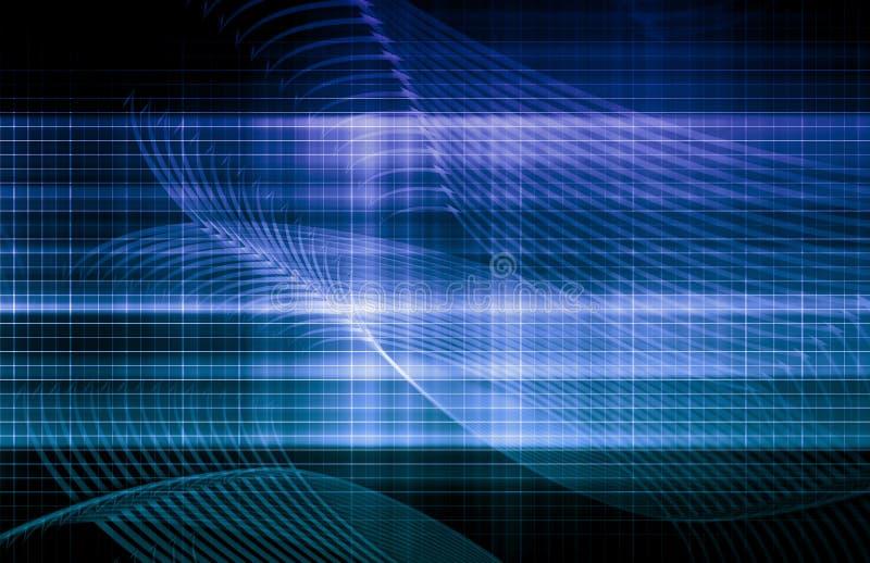 Blauer Computer-Hintergrund lizenzfreie abbildung