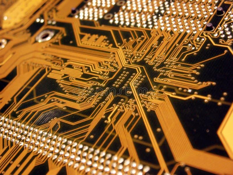 Blauer Computer Mainboard lizenzfreie stockfotos