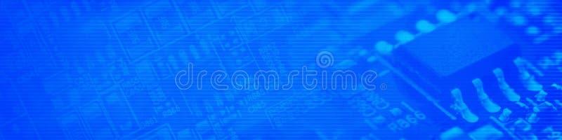 Blauer Cyberspace-Hintergrund stockfotos