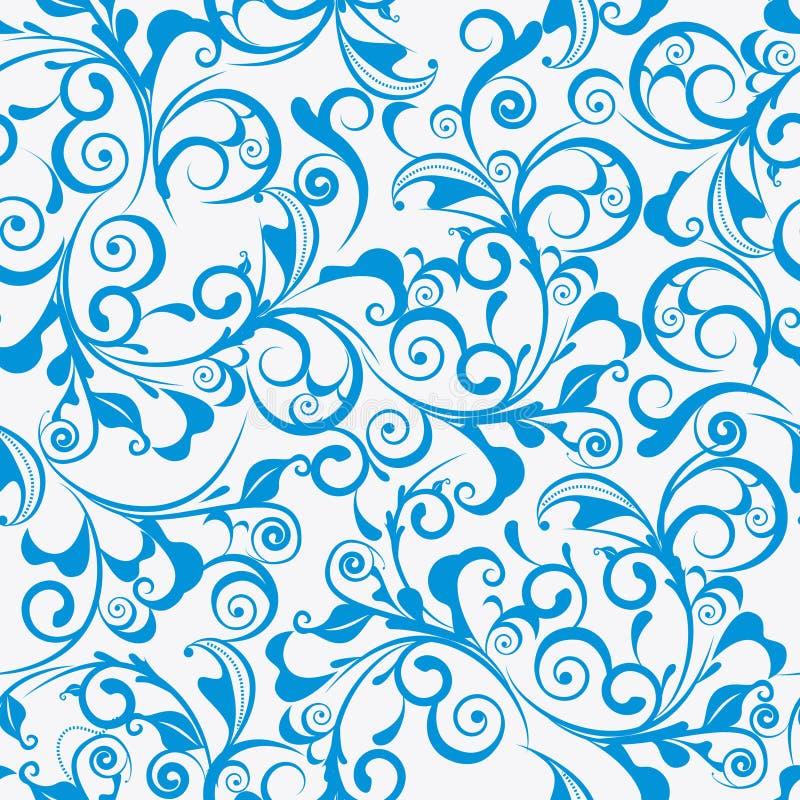 Blauer Damast stock abbildung