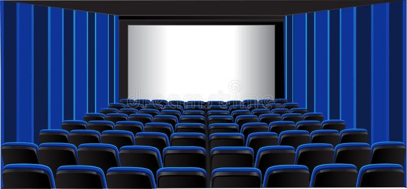 Blauer darstellender Raum; Kino vektor abbildung