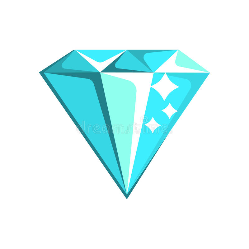 Blauer Diamond Element From Slot Machine, Spielen und Kasino-Nachtclub-in Verbindung stehende Karikatur-Illustration lizenzfreie abbildung