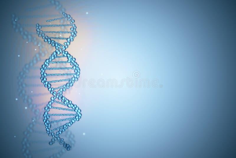 Blauer DNA-Hintergrund stock abbildung