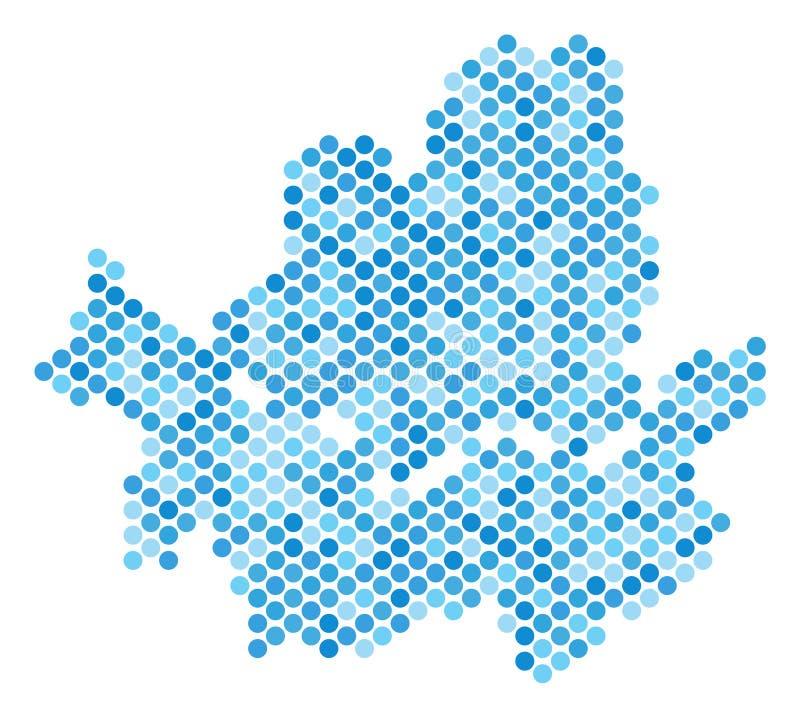 Blauer Dot Seoul City Map lizenzfreie abbildung