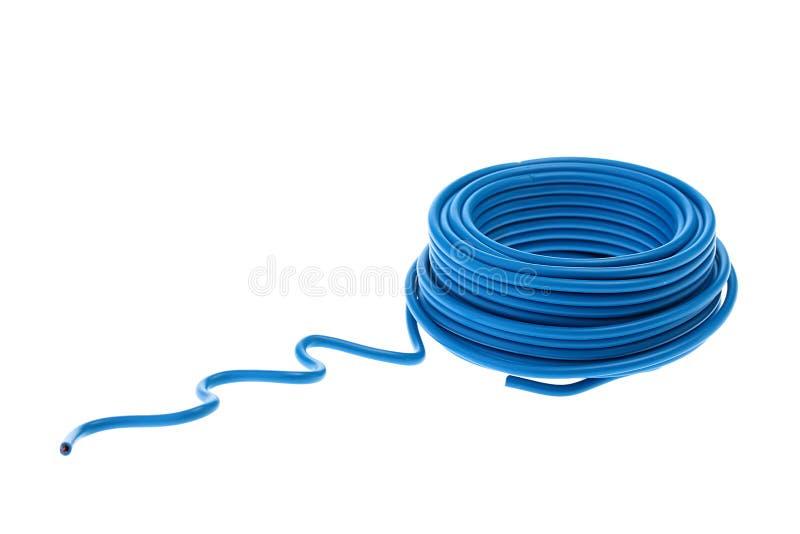 Blauer Draht stockfoto. Bild von ring, zubehör, elektrisch - 14034558