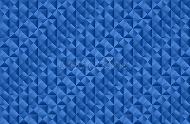 Blauer Dreieckformhintergrund stockbild