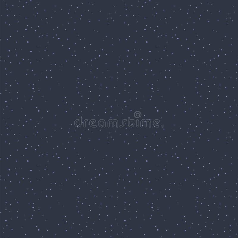 Blauer dunkler Raum mit nahtlosem Vektormuster des hellblauen Astronomiewissenschaftshintergrundes der Sterne einfachen vektor abbildung