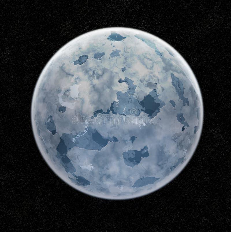 Blauer Eis-Planet vektor abbildung