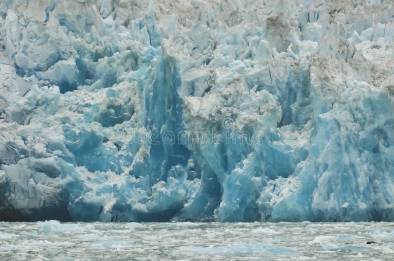Blauer Eisgletscher stockbilder