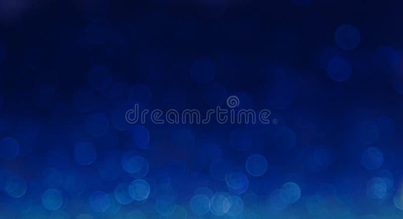 Blauer eleganter abstrakter bokeh Hintergrund stockfotos