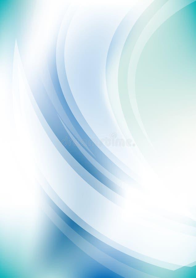 Blauer Energiehintergrund lizenzfreie abbildung