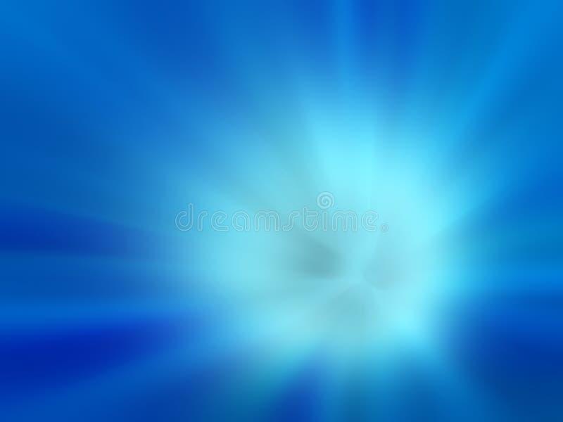 Blauer Explosionshintergrund stock abbildung
