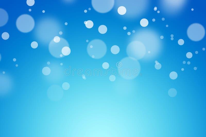 Blauer Farbhintergrund mit bokeh lizenzfreie stockfotografie