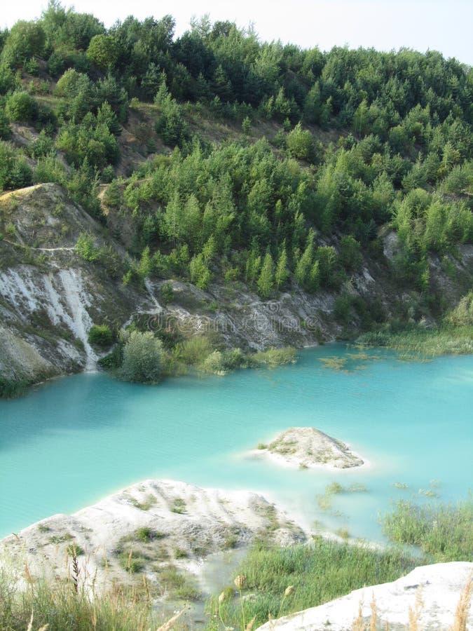 Blauer Fluss lizenzfreie stockfotografie
