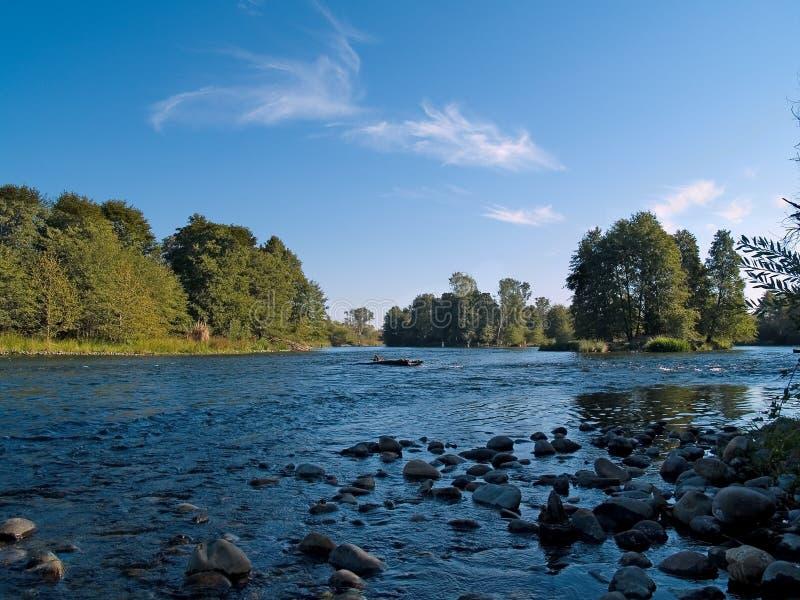 Blauer Fluss stockfotos