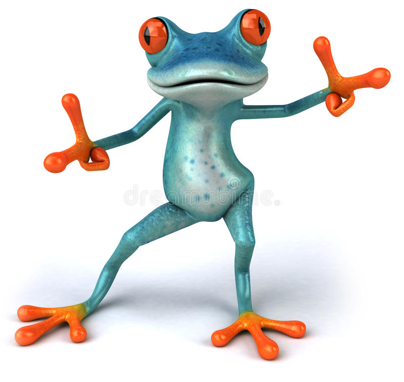 Blauer Frosch stock abbildung. Illustration von ökologie - 24765934