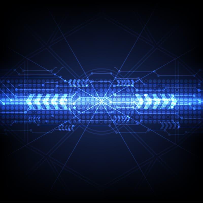 Blauer futuristischer Digitaltechnikhintergrund lizenzfreie abbildung
