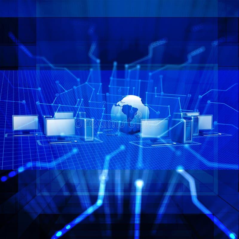 Blauer futuristischer Konzepthintergrund der Zusammenfassung stock abbildung
