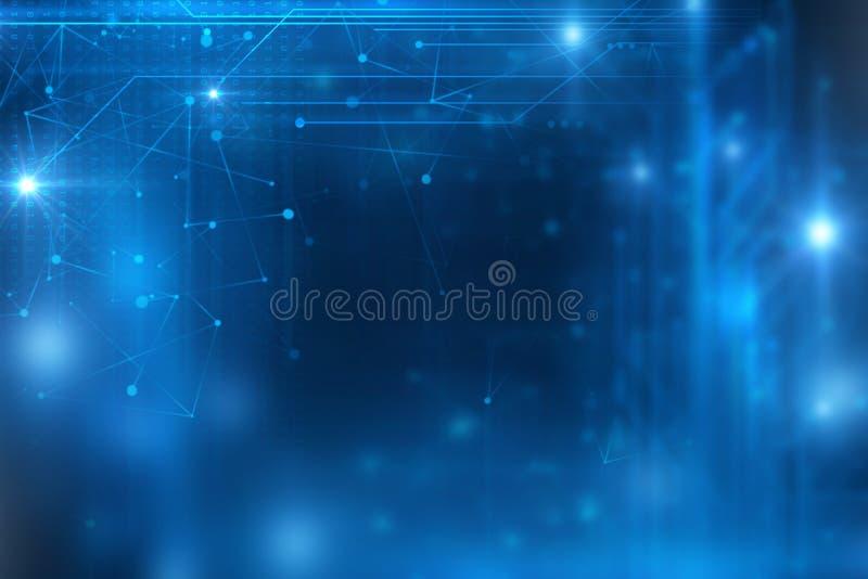 Blauer geometrischer Formzusammenfassungs-Technologiehintergrund vektor abbildung