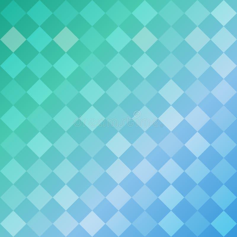 Blauer geometrischer Hintergrund der Formraute, Mosaikmuster lizenzfreie abbildung