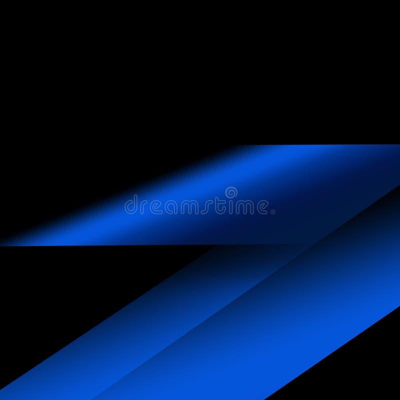 Blauer geometrischer technologischer Hintergrund Schablonenbroschüren- und -plandesign stock abbildung