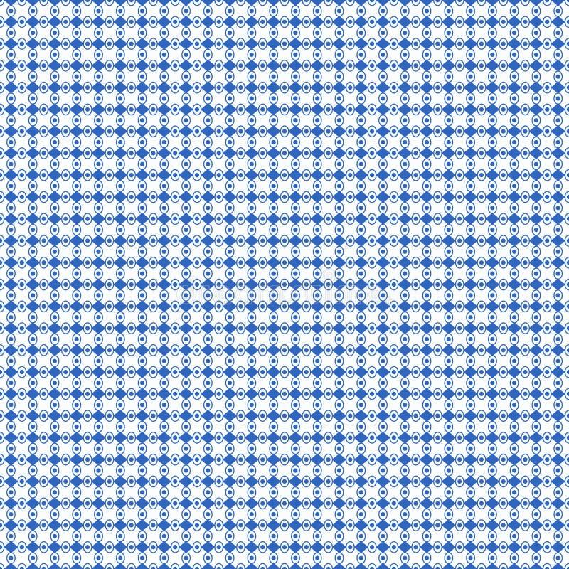 Blauer geometrischer verbundener Musterhintergrund stockfoto