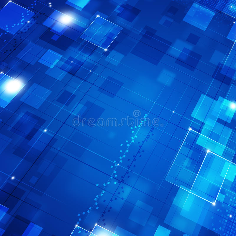 Blauer Geschäfts-Bewegungs-Hintergrund stock abbildung