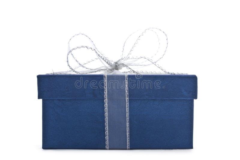 Blauer Geschenkkasten stockbilder