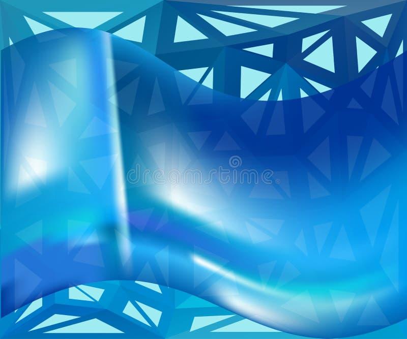 Blauer gewellter Vektorhintergrund lizenzfreie abbildung