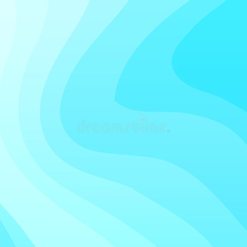 Blauer gewellter Vektorhintergrund vektor abbildung
