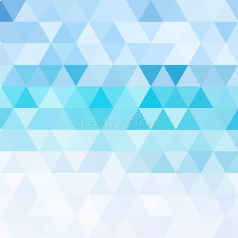 Blauer Gitter-Mosaik-Hintergrund, kreative Design-Schablonen vektor abbildung