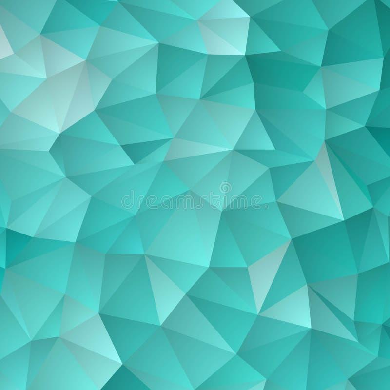 Blauer Gitter-Mosaik-Hintergrund, kreative Design-Schablonen ENV 10 lizenzfreie abbildung