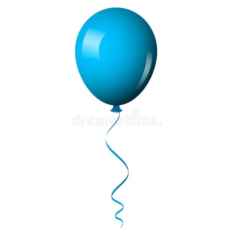 Blauer glänzender Ballon vektor abbildung
