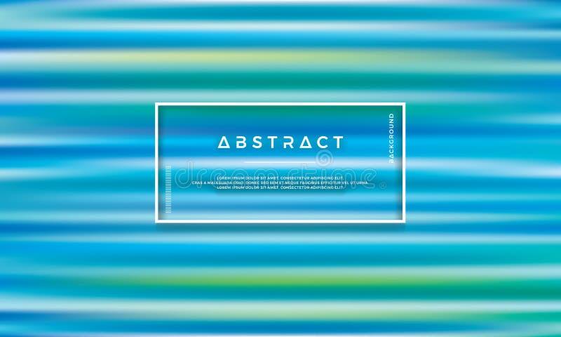 Blauer grüner, modischer abstrakter Vektorhintergrund Bunter Beschaffenheitshintergrund stock abbildung