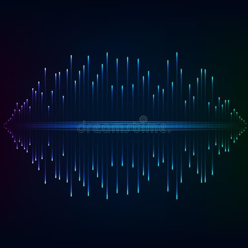 Blauer greller abstrakter Hintergrund stock abbildung